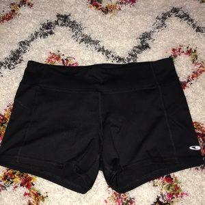 Black Champion yoga shorts